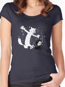 Ghost and Snow Women's Fitted Scoop T-Shirt