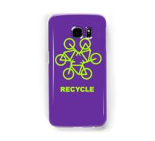 Recycle Message And Bicycle Emblem Samsung Galaxy Case/Skin
