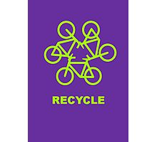 Recycle Message And Bicycle Emblem Photographic Print