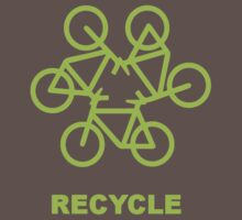 Recycle Message And Bicycle Emblem Kids Clothes