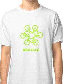 Recycle Message And Bicycle Emblem Classic T-Shirt