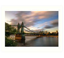 Hammersmith Bridge Sunset Art Print
