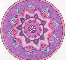 Purple Mandala by Lenora Brown
