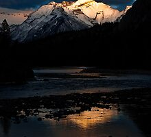 Bow River at Sunset by Charles Plant