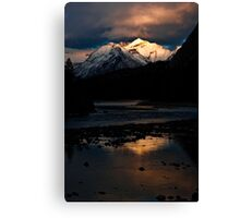 Bow River at Sunset Canvas Print