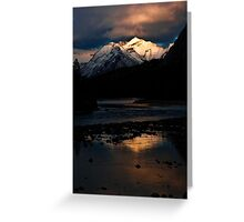 Bow River at Sunset Greeting Card