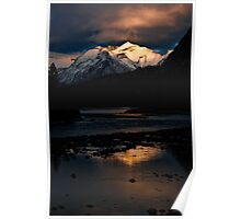 Bow River at Sunset Poster