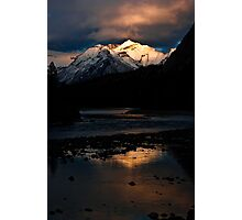 Bow River at Sunset Photographic Print