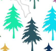 Christmas Pine Trees T-Shirt Sticker