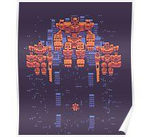 Robot God (Retro Pixel Shirt) Poster