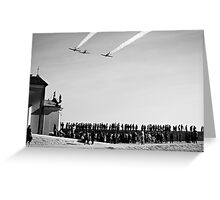 People at the airshow Greeting Card