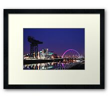 Crane over the River Clyde, Glasgow  Framed Print