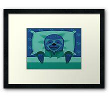 Sleeping Sloth Framed Print