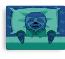 Sleeping Sloth Canvas Print