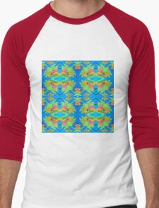 Dragonflies Patterns Men's Baseball ¾ T-Shirt