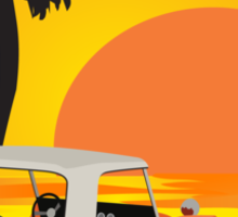 Dune Buggy Sunset Sticker