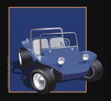 Blue Dune Buggy Blue Box by Frank Schuster