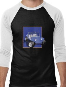 Blue Dune Buggy Blue Box Men's Baseball ¾ T-Shirt