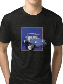 Blue Dune Buggy Blue Box Tri-blend T-Shirt