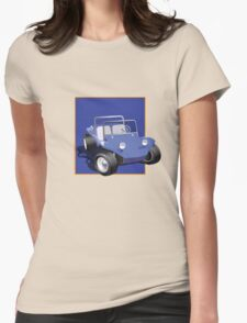 Blue Dune Buggy Blue Box Womens Fitted T-Shirt