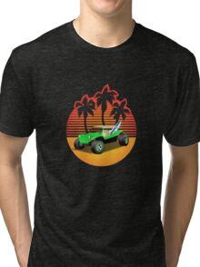 Dune Buggy Manxter Sunset Tri-blend T-Shirt