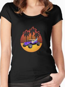 Dune Buggy Manxter Purple Sunset Women's Fitted Scoop T-Shirt
