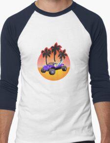Dune Buggy Manxter Purple Sunset Men's Baseball ¾ T-Shirt