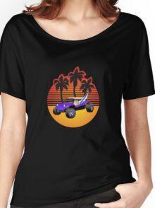 Dune Buggy Manxter Purple Sunset Women's Relaxed Fit T-Shirt