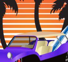Dune Buggy Manxter Purple Sunset Sticker