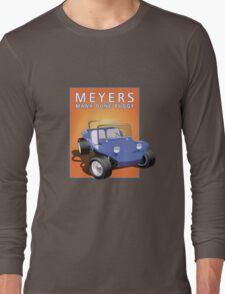 Dune Buggy Blue Manx Orange Box Long Sleeve T-Shirt
