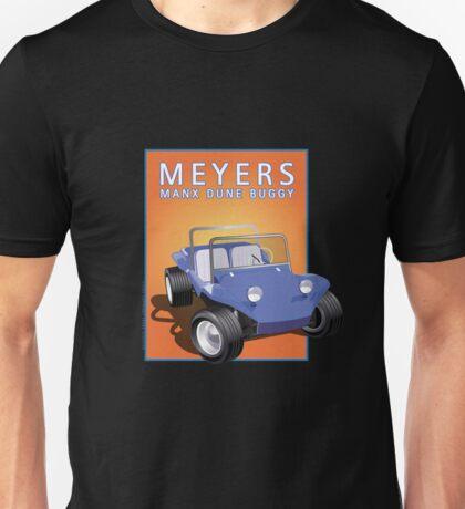 Dune Buggy Blue Manx Orange Box Unisex T-Shirt