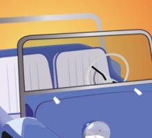 Dune Buggy Blue Manx Orange Box Sticker