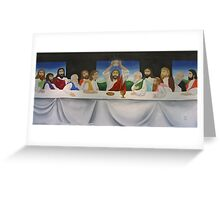 Last Supper Mural Greeting Card
