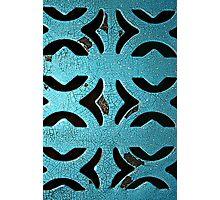 blue grate Photographic Print