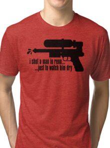 Johnny Splash - Black Tri-blend T-Shirt
