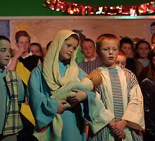 school nativity play by digimage