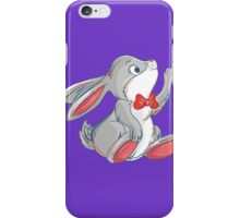 Cute rabbit with bow iPhone Case/Skin