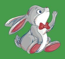 Cute rabbit with bow Kids Tee