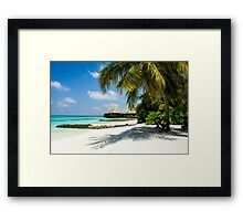 Postcard from the Maldives - Eden on Earth Framed Print