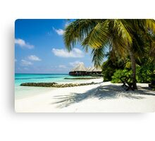 Postcard from the Maldives - Eden on Earth Canvas Print