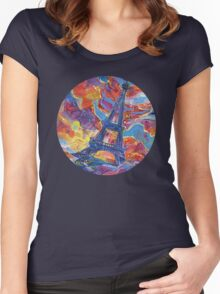 Eiffel's tower painting - 2014 Women's Fitted Scoop T-Shirt