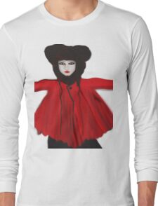 Red And Blue Long Sleeve T-Shirt