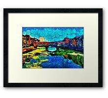 Arno River Florence Italy Fine Art Print Framed Print