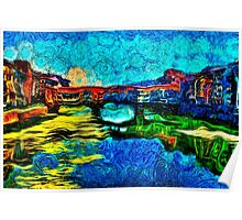 Arno River Florence Italy Fine Art Print Poster