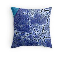 Blue Crackle  Throw Pillow
