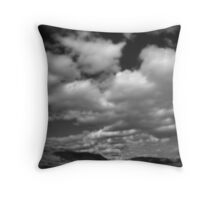 Clouds and Shack Throw Pillow