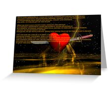 Straight Through the Heart Greeting Card