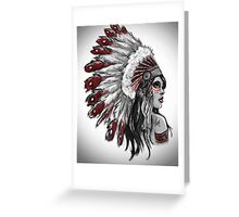 Red Indian - Color  Greeting Card