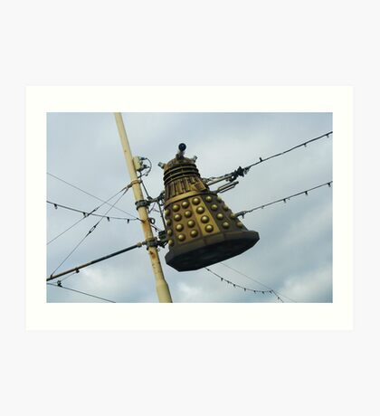 Dalek in a lamp post Art Print