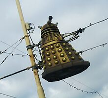 Dalek in a lamp post by Tabita Harvey